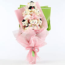 Cuddly Teddy Bear Bouquet: Send Soft Toys