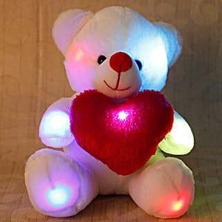 Cuddly White Teddy Bear: Send Soft Toys