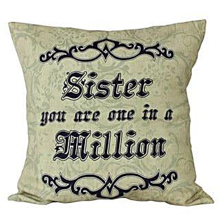 Cushion For Sister: Bhai Dooj Gifts for Sister