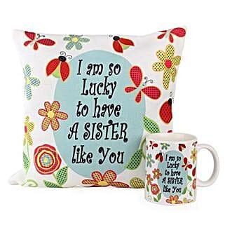 Cushion Mug For Sisters: Birthday Gifts for Sister