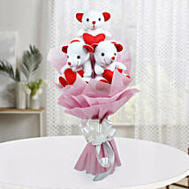 Cute Bouquet Of Teddy Bear: 1st Birthday Gifts