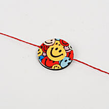 Cute Colorful Smiley Rakhi: Rakhi to Tumkur