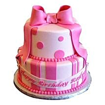 Cute Pink Gift Cake: Cakes for Sister