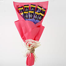 Dairy Milk Chocolates Red Paper Bouquet: Chocolate Gifts in India
