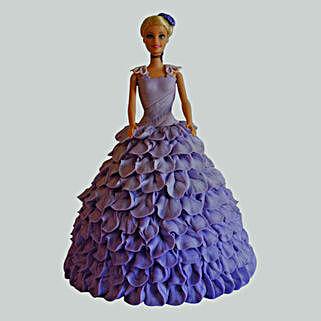 Dazzling Blue Barbie Cake: Barbie Cakes