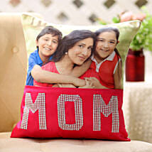Dazzling Mom Cushion: Personalised Gifts Hyderabad