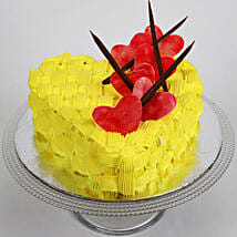 Decorated Hearts Cake: Valentine Heart Shaped Cakes