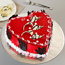 Decorated Red Heart Cake: Red Velvet Cakes Lucknow