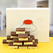Delectable Chocolate Burfi: Send Rakhi to Karimnagar
