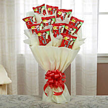 Delicious Choco Pie Bouquet: Holi Gifts