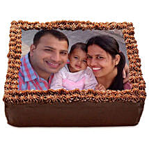 Delicious Chocolate Photo Cake: Cakes for 21st Birthday