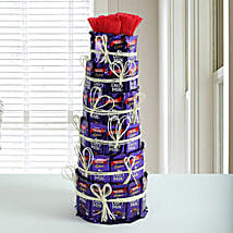 Delicious Dairy Milk Tower: Mothers Day Chocolate Bouquet