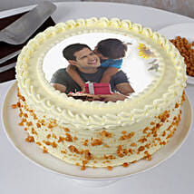 Delicious Fathers Day Butterscotch Photo Cake: Send Photo Cakes