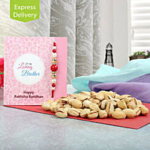 Delicious Pista hamper: Rakhi to Jalna