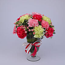 Delightful Colourful Carnations Arrangement: Exotic Flowers