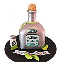 Delightful Silver Patron Cake 2kg by FNP: 1000-cakes-vd