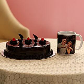 Delish Truffle Cake With Picture Mug:
