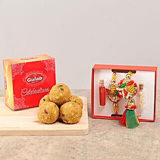 Designer Bhaiya Bhabhi Rakhi & Sweets: Send Rakhi to Sivaganga
