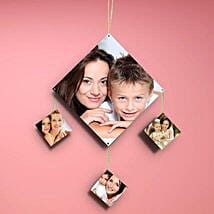 Diamondshaped Personalized Wall Hanging: Mothers Day Personalised Gifts