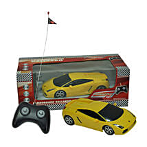Dickie Lamborghini Gallardo Yellow with Cool Dude Smiley: Kids Remote Control Toys