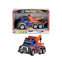 Dickie Tow Truck Blue with Cool Dude Smiley: Cars for Kids