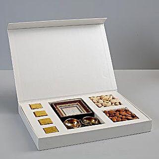 Diwali Combo Box With Lakshmi Ganesha Frame: Diwali Gifts to Mumbai