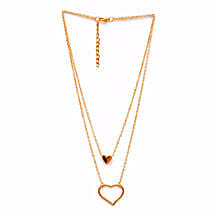 Double Layered Heart Necklace: Women's Accessories