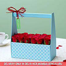 Dreamy Box Of Red Roses: Exotic Flowers