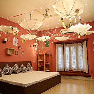 Dreamy Umbrella Decoration: Anniversary Decoration Services