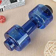 Dumbbell Water Bottle Blue Color: Gifts for Brother