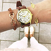 Earthy Brown Bracelet Stack: Buy Watches