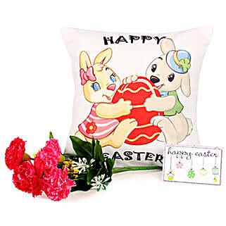 Easter Bunny Cushion: Artificial Flowers Noida