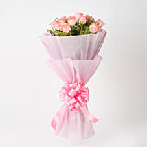Elegance - Pink Roses Bouquet: Send Valentine Gifts to Jaipur
