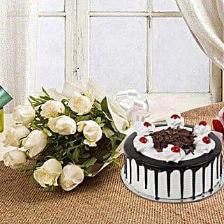 Elegant Burst: Flowers n Cakes - Mother's Day