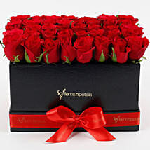 Ravishing 40 Red Roses Box Arrangement: Cake Delivery in Porbandar
