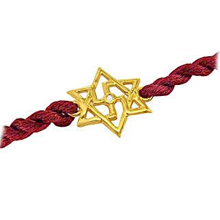 Enchanting Gold N Diamond Rakhi: Send Gold Rakhi