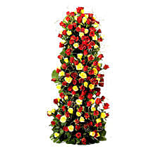 Endless Love- 100 Roses Floral Tower: Valentine Romantic Gifts