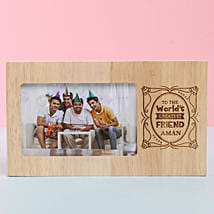 Engraved Wooden Photo Frame For Best Friend: Friendship Day Photo Frames