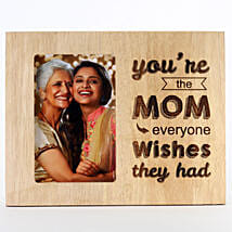 Engraved Wooden Photo Frame For Mom: Photo Frame Gifts for Birthday