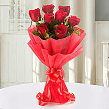 Enigmatic Red Roses Bouquet: Karwa Chauth Gifts Mangalore