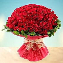 Treasured Love- 200 Red Roses Bouquet: Valentines Day Gifts for Wife