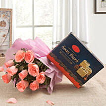 Enticing Pink: New Year Send Flowers & Sweets