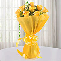Enticing Yellow Roses Bouquet: Roses to Kanpur