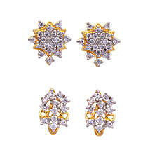 Estelle Gold Plated Stud Combo: Jewellery Gifts