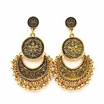 Ethnic Gold Ghungroo Earrings: Valentines Day Jewellery