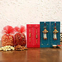 Ethnic & Lumba Rakhis With Dry Fruits: Rakhi with Dryfruits
