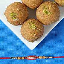 Ethnic Rakhi & Besan Laddu: Rakhi With Sweets Ludhiana