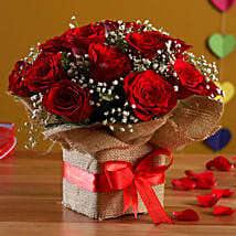 Exotic Red Roses Arrangement: Flower Arrangements
