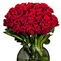Extravagant 40 Red Roses Arrangement: Send Anniversary Flowers for Her