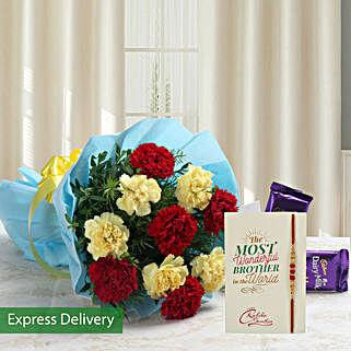 Fall In Love Rakhi: Send Rakhi with Flowers